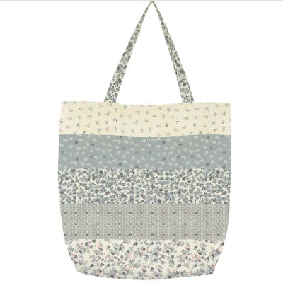 Makower - Tranquility - Striped Tote Bag Pattern - Free Instant Download