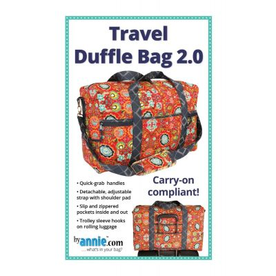 ByAnnie Sewing Pattern -   Travel Duffle Bag 2.0 Pattern