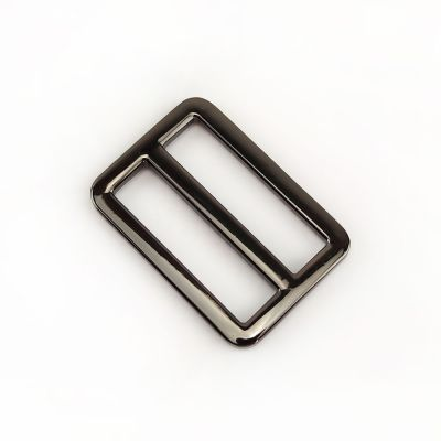 Metal Tri Glide Bag Buckles 38mm - For Bag Straps - Nickel Black