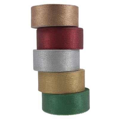 Metallic Ribbon 38mm Wide - 5 Colours