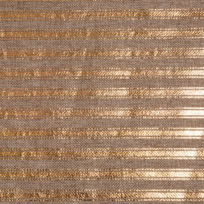 2m Roll of Christmas Hessian Fabric - Gold Stripe