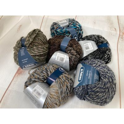 Remnant - 34 Balls of Patons Tweed Style Chunky Yarn 50g Balls 3-Ply-various colours - Discontinued Line