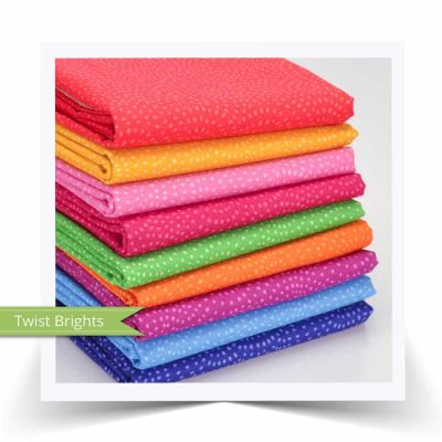 Dashwood Studios - Twist - Brights - Fat Quarter Fabric Bundle