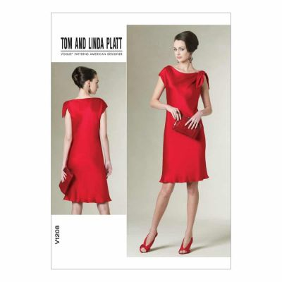 Vogue Sewing Pattern V1208 Misses'/Misses' Petite Dress