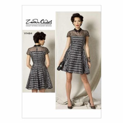Vogue Sewing Pattern V1484 Misses'/Misses' Petite Fit and Flare Dress