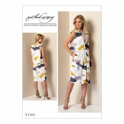 Vogue Sewing Pattern V1501 Misses' Mock-Tuck Pleated Dress