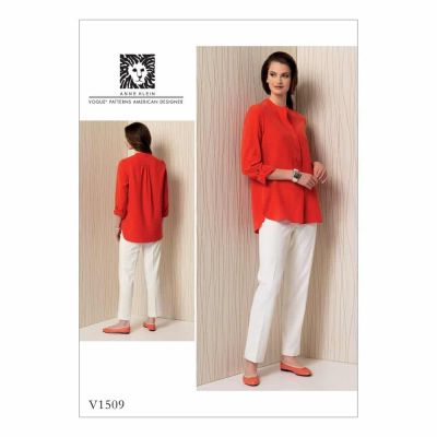 Vogue Sewing Pattern V1509 Misses' Banded Tunic with Yoke and Tapered Pants