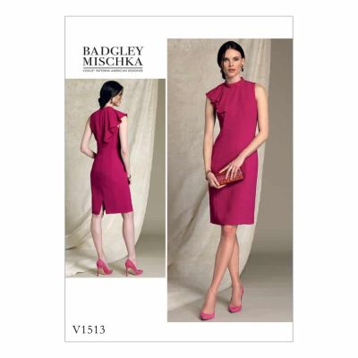 Vogue Sewing Pattern V1513 Misses'/Misses' Petite Asymmetrical Draped-Neck Dress