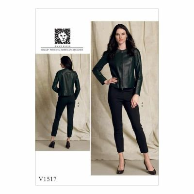 Vogue Sewing Pattern V1517 Misses' Collarless Seamed Jacket and Pull-On Pants