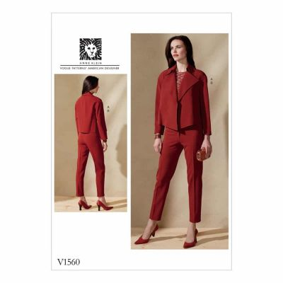 Vogue Sewing Pattern V1560 Misses' Open, Loose Jacket and Slim Pants