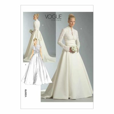 Vogue Sewing Pattern V2979 Misses'/Misses' Petite Dress and Sash