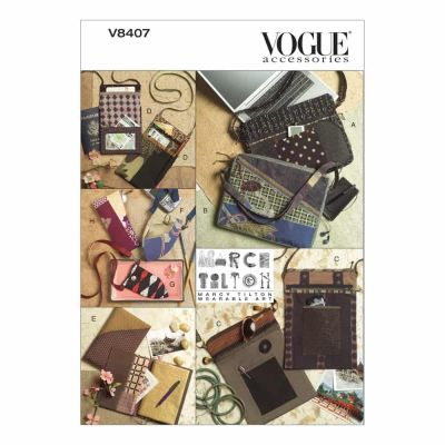 Vogue Sewing Pattern V8407 Bags, Eyeglass Case and Journal Cover