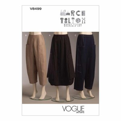 Vogue Sewing Pattern V8499 Misses' Skirt and Pants