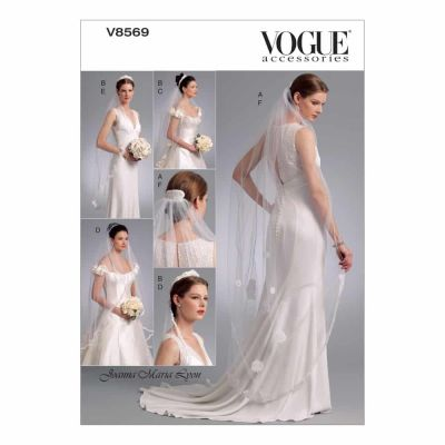 Vogue Sewing Pattern V8569 Headpieces, Tiara and Bridal Veils
