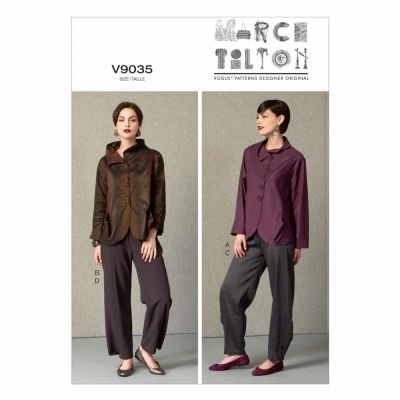 Vogue Sewing Pattern V9035 Misses' Jacket and Pants