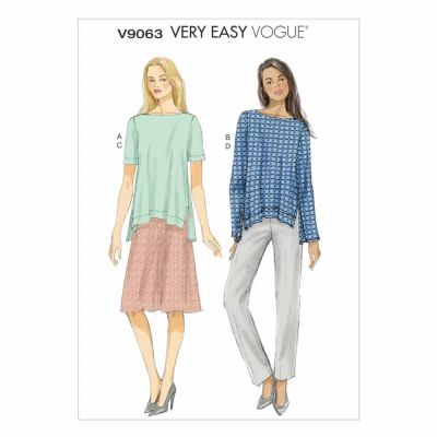 Vogue Sewing Pattern V9063 Misses' Top, Skirt and Pants