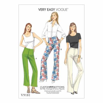 Vogue Sewing Pattern V9181 Misses' Custom-Fit Bootcut Pants