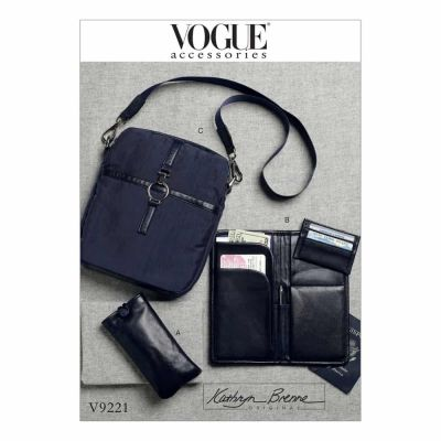 Vogue Sewing Pattern V9221 Eyeglasses Case, Passport Wallet, Card Holder and Shoulder Bag