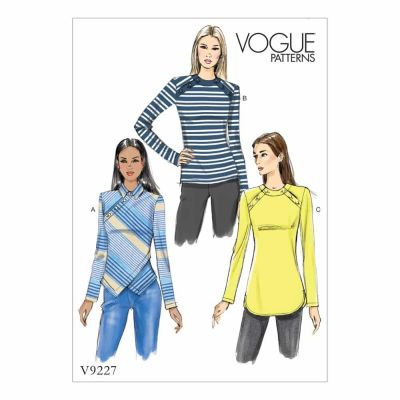 Vogue Sewing Pattern V9227 Misses' Button-Detail Tops