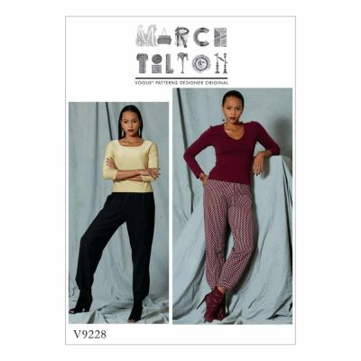 Vogue Sewing Pattern V9228 Misses' Pull-On Pants with Front Pockets
