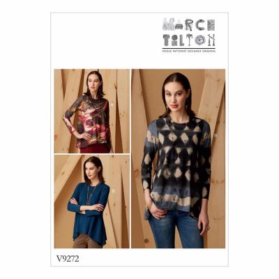 Vogue Sewing Pattern V9272 Misses' Knit Swing Tunics with Godets