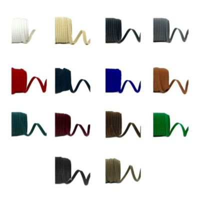 Remnant -  Mixed colours Velvet Insertion Piping Bias Binding Bundle - 30 metres approx
