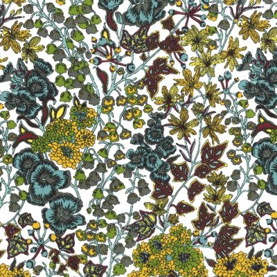 Regency Cotton Lawn Fabric - Vibrant Floral