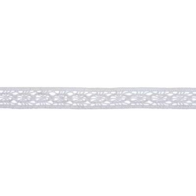 10mm Vintage Lace White Cotton Ribbon 5m Reel