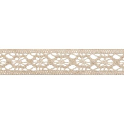 12mm Vintage Lace Cream Cotton Ribbon 5m Reel