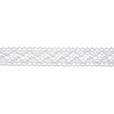 18mm Vintage Lace White Cotton Ribbon 5m Reel