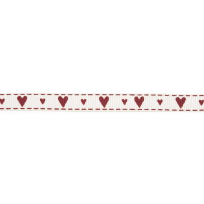 10mm Hearts Grosgrain Ribbon 5m Reel