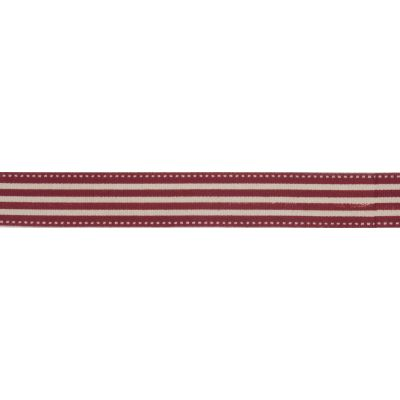 15mm Red Striped Cotton Ribbon 5m Reel