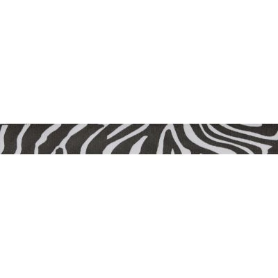 15mm Zebra Stripe Patterned Satin Ribbon 5m Reel