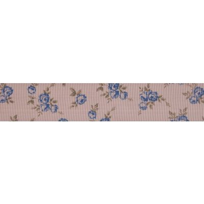 22mm Blue Rose Pink Grosgrain Ribbon 5m Reel