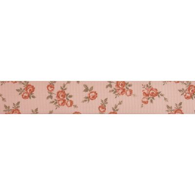 22mm Pink Rose Grosgrain Ribbon 5m Reel