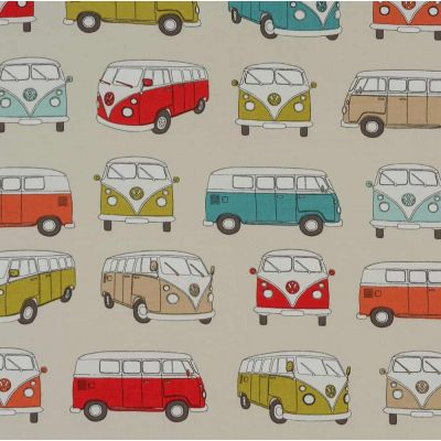 Laminated Cotton - VW Camper - Multi