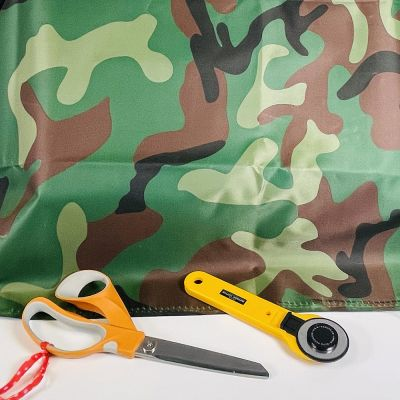 Waterproof Camouflage Fabric - Green Camouflage Traditional