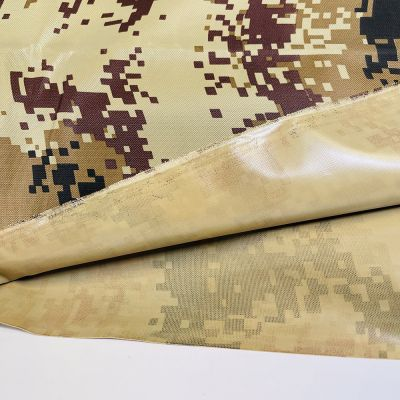 Waterproof Camouflage Fabric - Brown Camouflage Pixelated