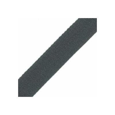 25mm Acrylic Herringbone Webbing Grey