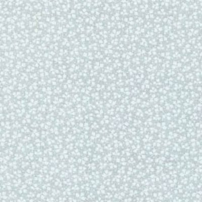 Fabri-Quilt - Cream/White Small Leaves Extra Wide Back Fabric