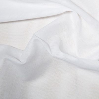 Remnant -Muslin Fabric - White - 78 x 90cm
