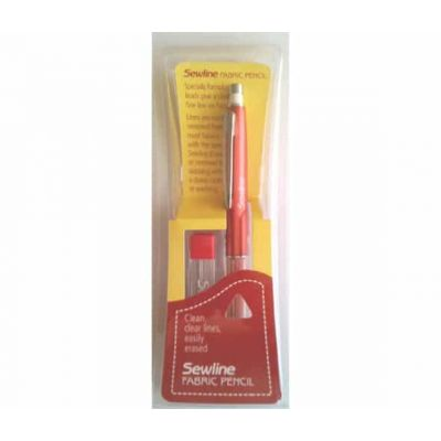 End Of Line - Sewline Mechanical Fabric Pencil With Eraser And 6 Refills - Yellow
