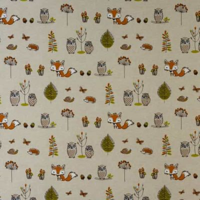 Laminated Cotton - Woodland Fox - Multi