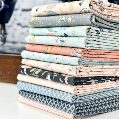 Nutex - Woodland Songbirds - Fat Quarter Bundle - 12 Fabrics