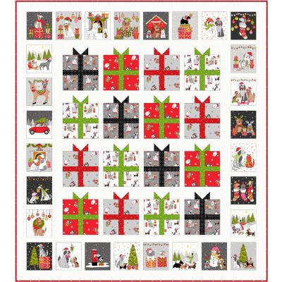 Makower - Yappy Christmas - Quillow - Free Project - Free Instant Download