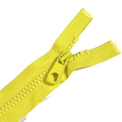 Chunky Open Ended Zips - Yellow - 10 Inches Up to 36 Inches