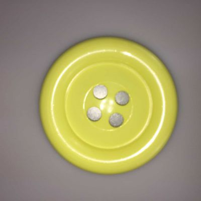 Yellow Large Clown Buttons Size 60L - 38mm