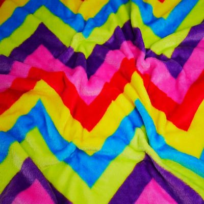 Magnificent Rainbow Zig Zag Cuddle Fleece
