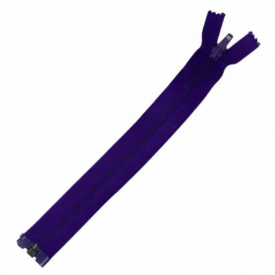 Nylon Open Ended Zip Purple