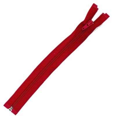 Nylon Open Ended Zip Red